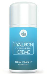 Hyaluronsäure Mineralkomplex Creme auf weissem Grund